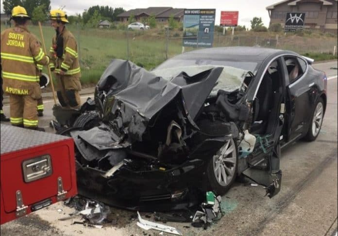Model S Autopilot Fire Truck Utah Crash