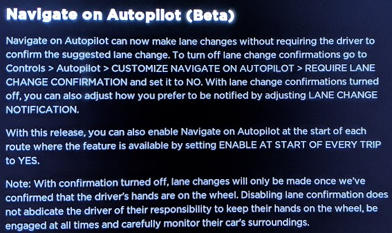 Navigate on Autopilot Release Notes