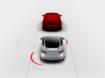 Tesla Forward Collision Warning