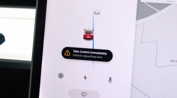 Tesla Lane Departure Avoidance