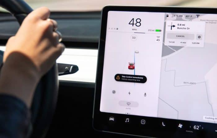Tesla Updates Lane Departure Safety Features