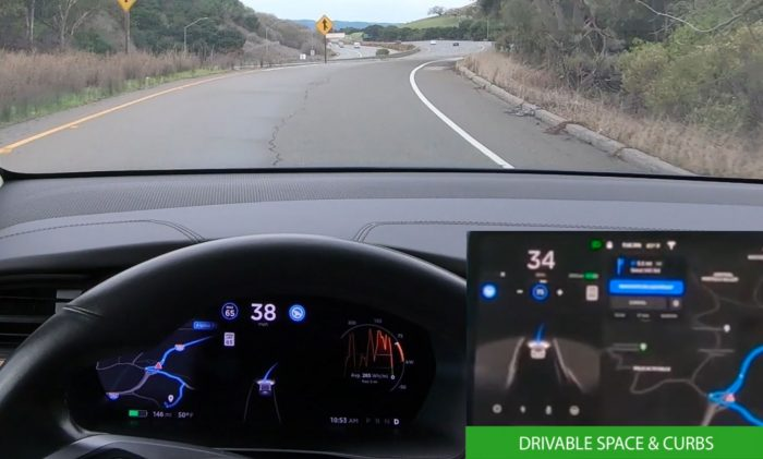 Tesla Autopilot Drivable Space