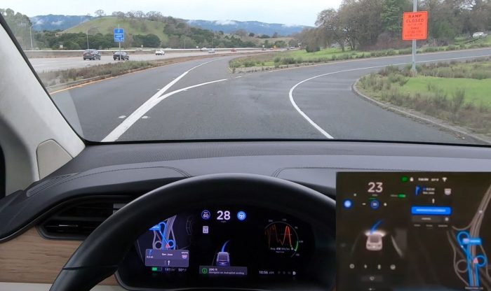 Tesla Autopilot on Tight Turns
