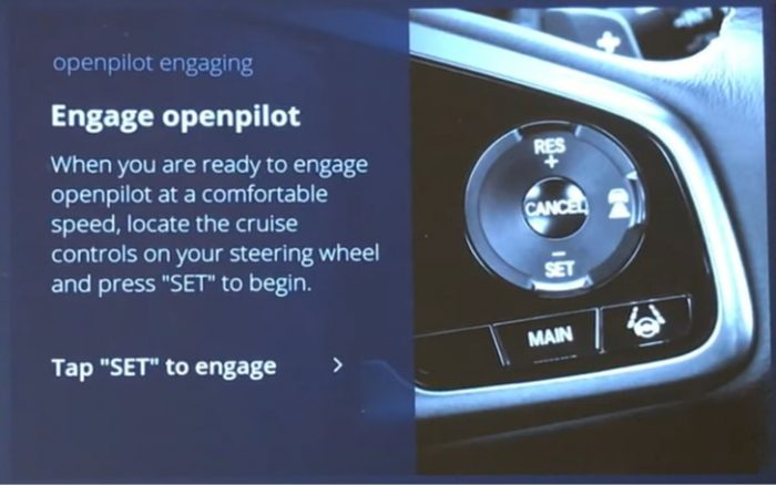 How to engage openpilot