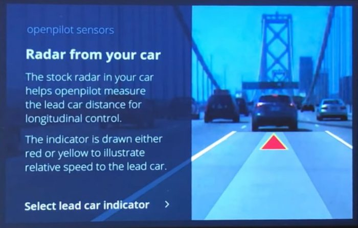 Comma.ai Openpilot Uses Vehicle Radar