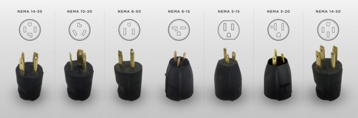 Example Tesla North America Power Adapters