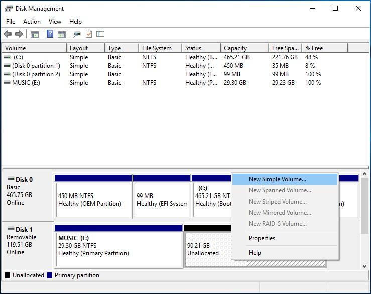 Tesla Dashcam Partition for Music on Windows