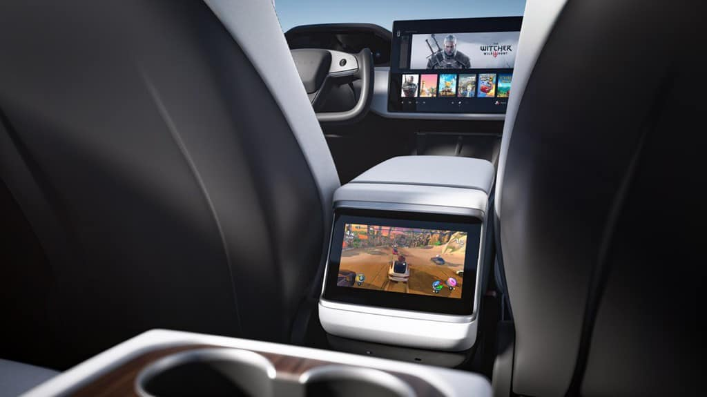 Tesla Model S and X 2021 Refresh Rear Entertainment