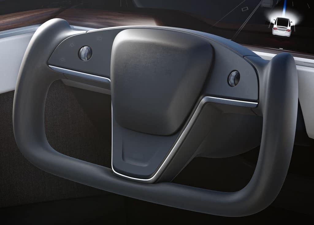 Tesla Model S and X Refresh 2021 - Yoke Steering Wheel